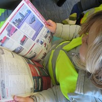 reading the haulage news!